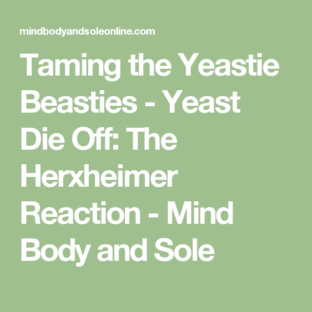 Taming the Yeastie Beasties - Yeast Die Off: The Herxheimer