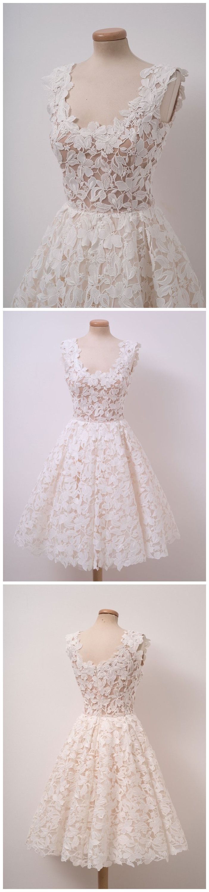 Aline ivory vintage homecoming dress lace homecoming dresses short