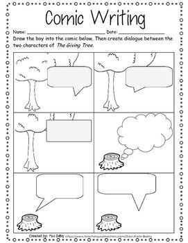 The Giving Tree Worksheet Packet With Images The Giving Tree