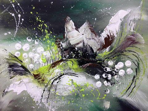 abstrakte acrylmalerei acryl tuschen und kaffeesatz