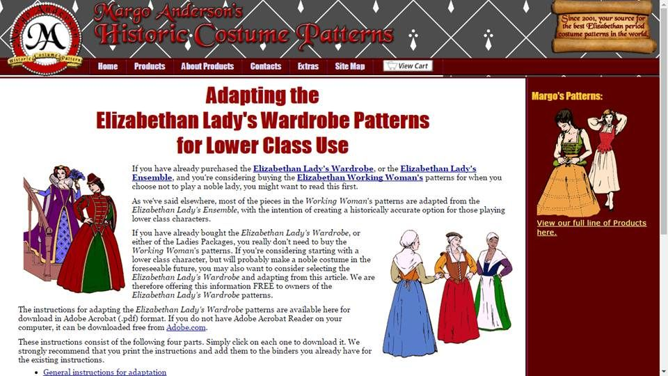 Free Historical Costume Patterns Costume Patterns Victorian