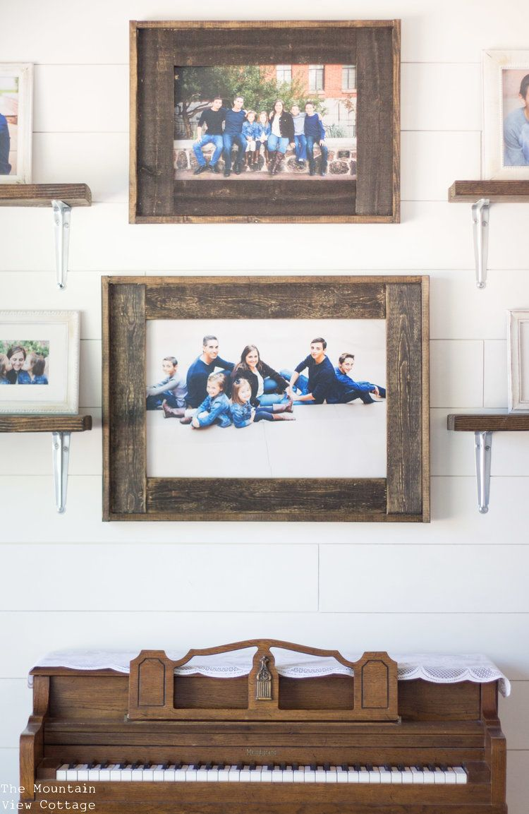 Diy Farmhouse Inspired Wood Picture Frames The Mountain View Cottage Picture On Wood Wood Picture Frames Diy Rustic Picture Frames