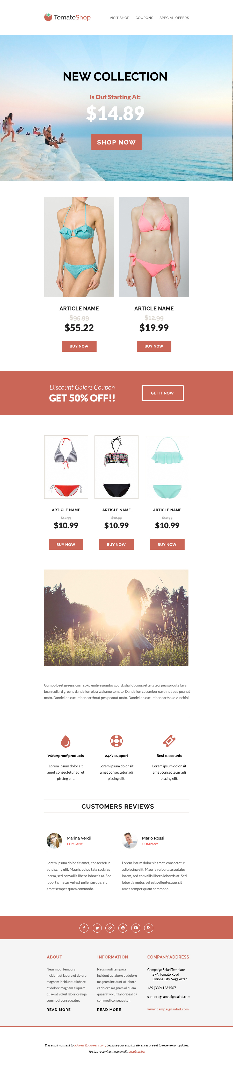 Pin by Bashooka Web & Graphic Design on Best HTML Email Templates