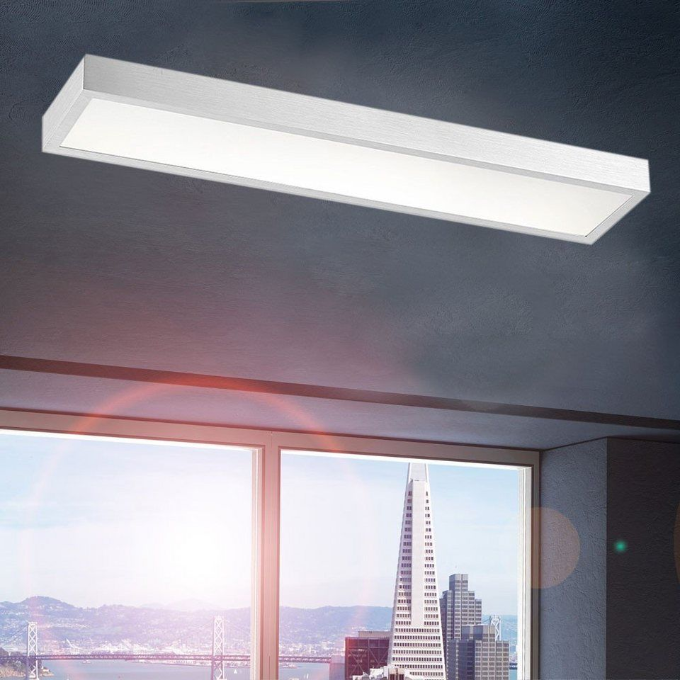 LED Deckenlampe rechteckig Wohnzimmer minimalistisch Lampe