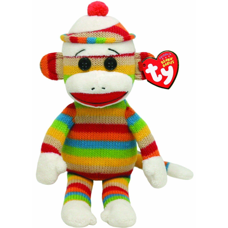 Amazon Ty Beanie Babies Socks Monkey Pet Toys Sock Monkey