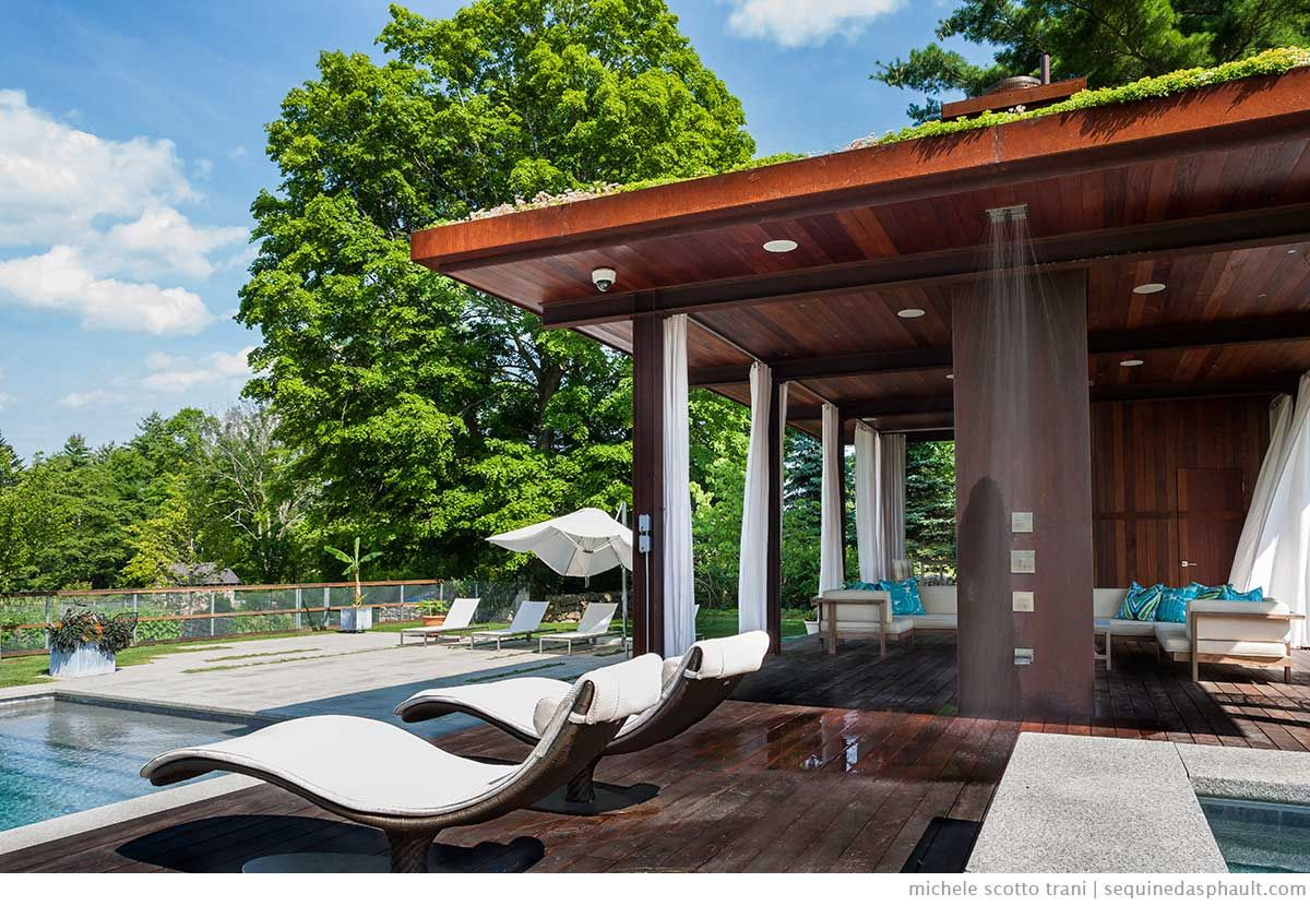 Outdoor Room Modern Pool House Pavilion - Google