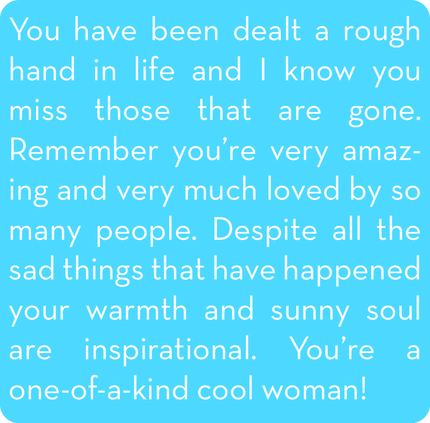 Words I needed to hear, Thank You Pene!!