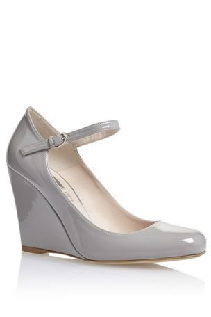 ae70efb01756 Buy Grey Patent Wedge Shoes from the Next UK online shop