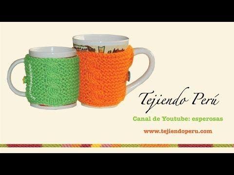 Tutoriales: Cobertor de Tazas en Dos Agujas y en Crochet / Video ...