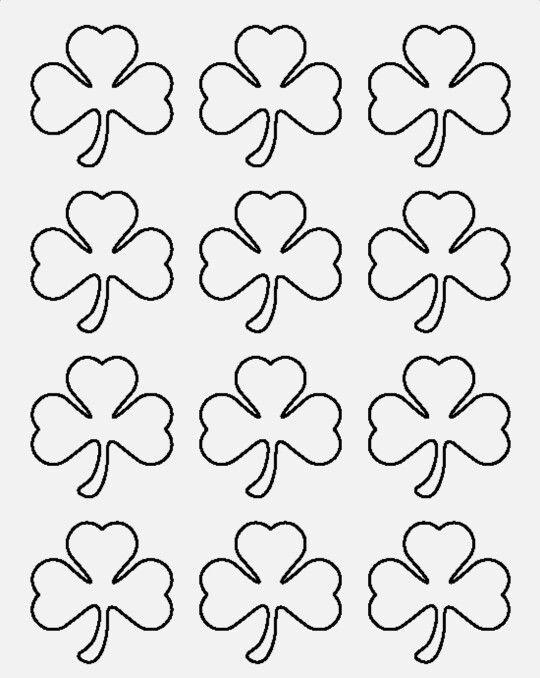 Shamrock Sketches Shamrock Template Templates St Patrick