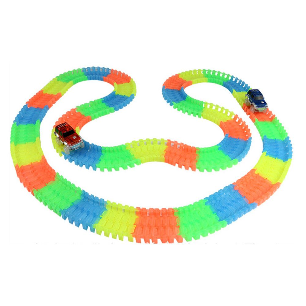 Magic Track Glow Dark Led Light Up Bend Flex Race Car For Child Gift Check Out This Toy By Clicking The Image Have Fun P Toy Race Track Race Track Track