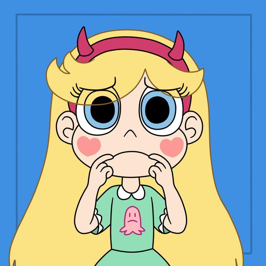 Star makes a sad face by Deaf-Machbot on DeviantArt
