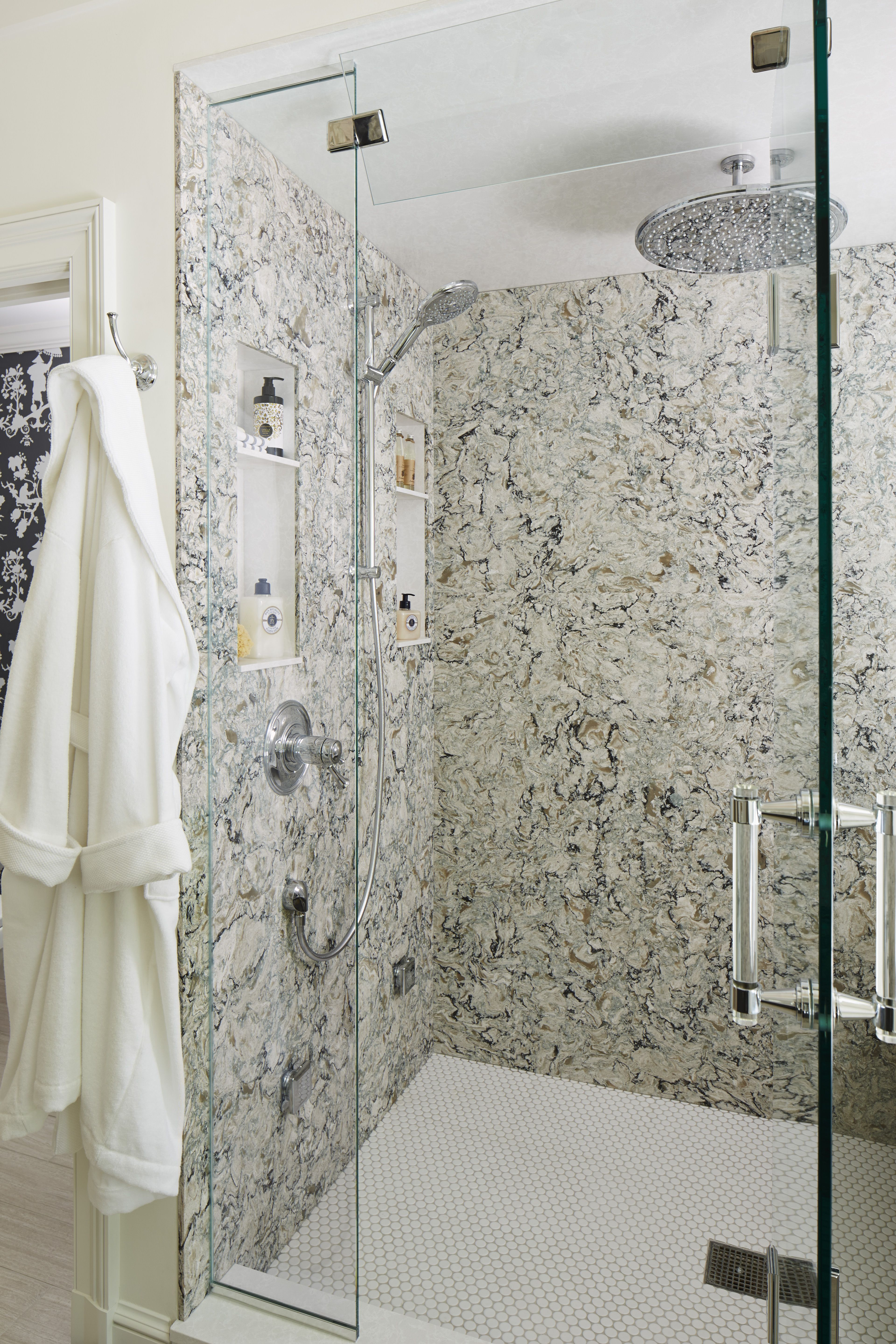 cambria praa sands shower wall cladding. | bathroom design