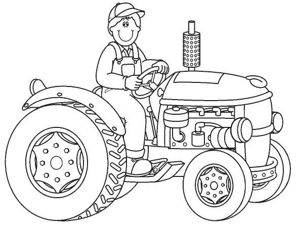 tractor para colorir - Pesquisa Google baie maniere om te reis - copy simple tractor coloring pages