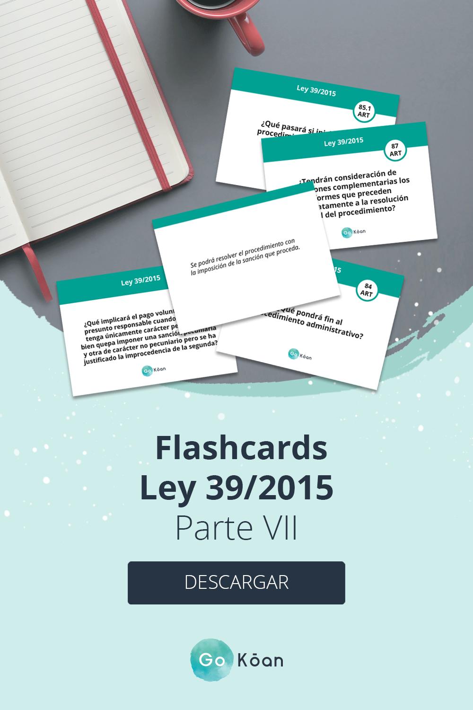 Flashcards Oposiciones Ley 39 2015 Oposicion Oposiciones Educacion Memorización
