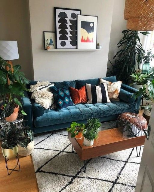 Scott 3 Seater Sofa Petrol Cotton Velvet Blue Sofas Living Room Teal Couch Living Room Mid Century Modern Living Room