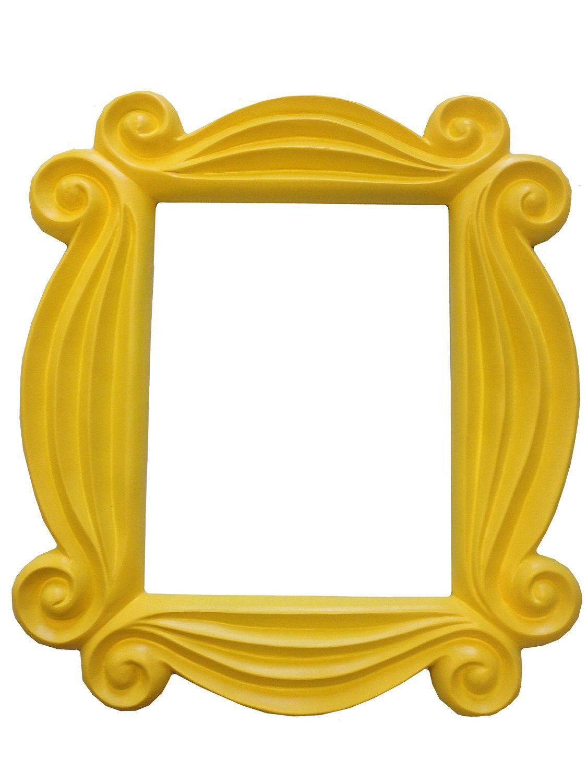 Türspion, gelb Friends Bilderrahmen, zum Aufhängen, TV-Monica F-R-I ...