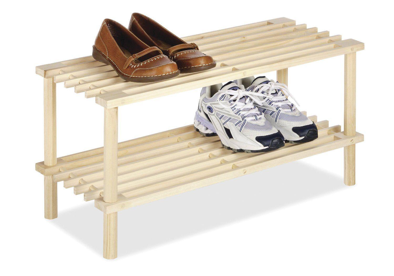 Amazon.com - Whitmor 6026-3562 Natural Wood Household Shelves - Free Standing Shoe Racks
