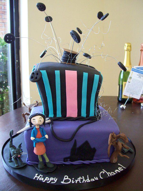 Awe Inspiring Coraline Theme Birthday Party Coraline Cake By See Through Funny Birthday Cards Online Inifodamsfinfo