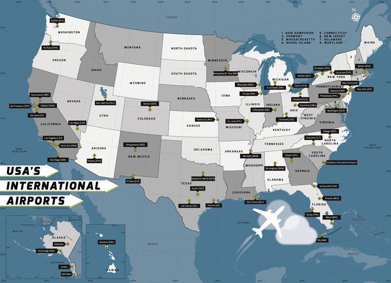 USA International Airport | #worldmapstore | International ...