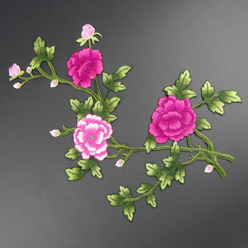 Couple Plum Applique Applique Embroidery floral sew on Accessory DIY, flower  patch-in Lace from Home & Garden on Aliexpress.com | Alibaba Group