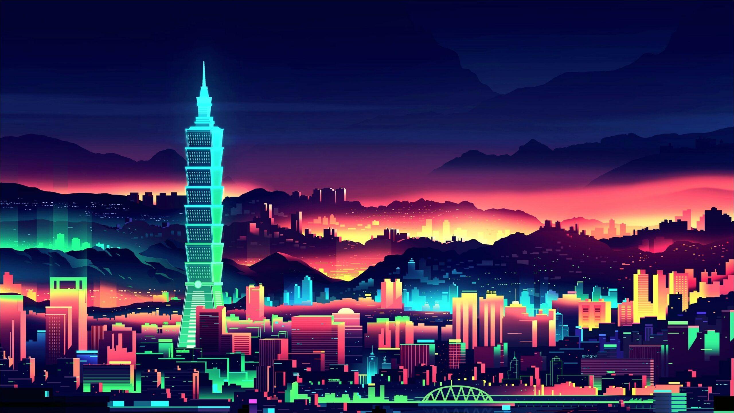 4k Neon City Wallpaper In 2020 City Wallpaper Neon Wallpaper Digital Wallpaper