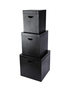 Moc Croc Faux Leather Storage Boxes (Set Of 3),  Http://www.very.co.uk/moc Croc Faux Leather Storage Boxes  Set Of 3/1346647807.prd