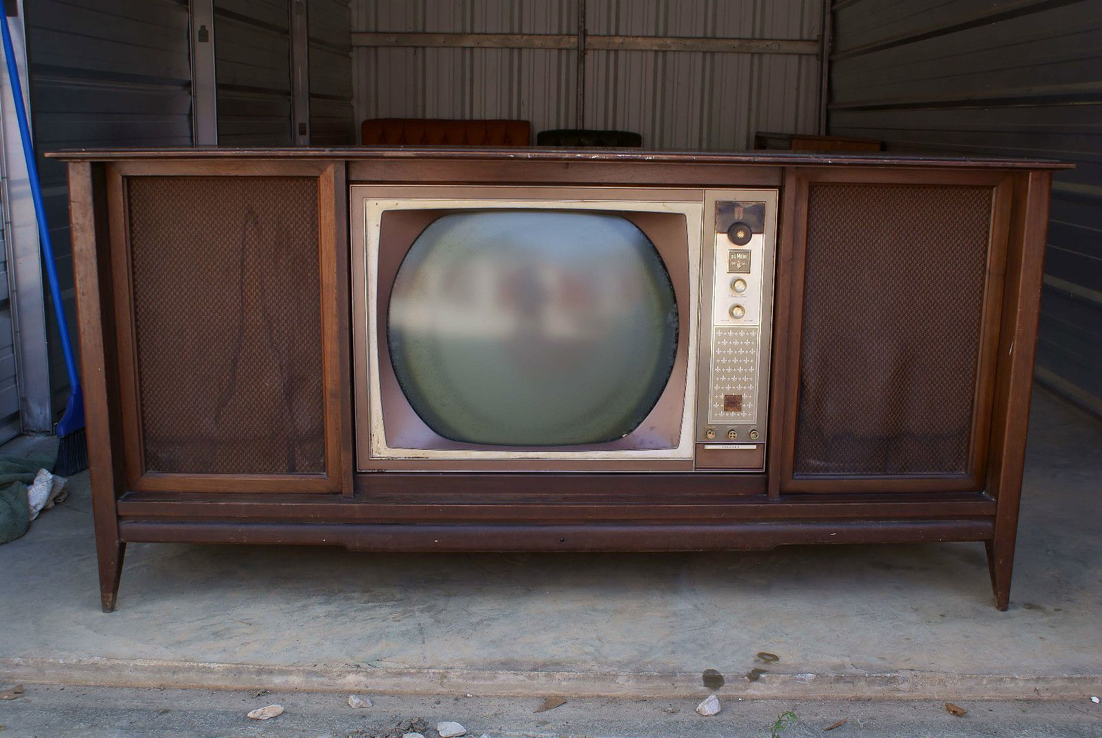 we had a television just like this  it also had a record