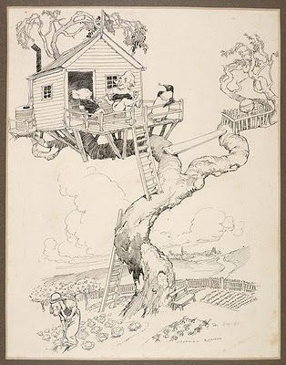 Norman Lindsay Treehouse from the Magic Pudding