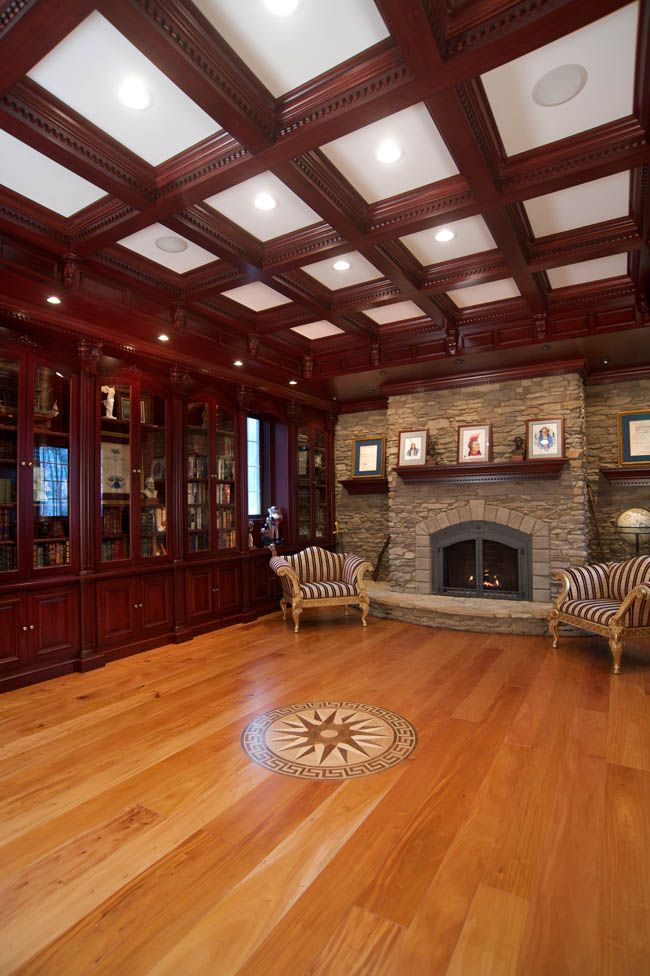 Wood Paneled Library: Bookworm Builds A Custom Library Room Design
