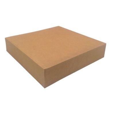 Patisseriedozen met scharnierdeksel - kraft bruin - 32x32x5cm - per 50 stuks