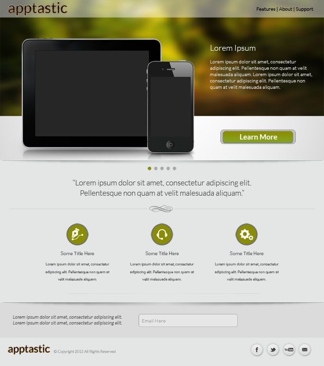 Free HTML5/CSS3 responsive template giveaway with psd\'s | Free PSD ...