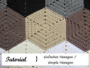 Sechseck Häkeln Simple Hexagon Granny Squares Pinterest
