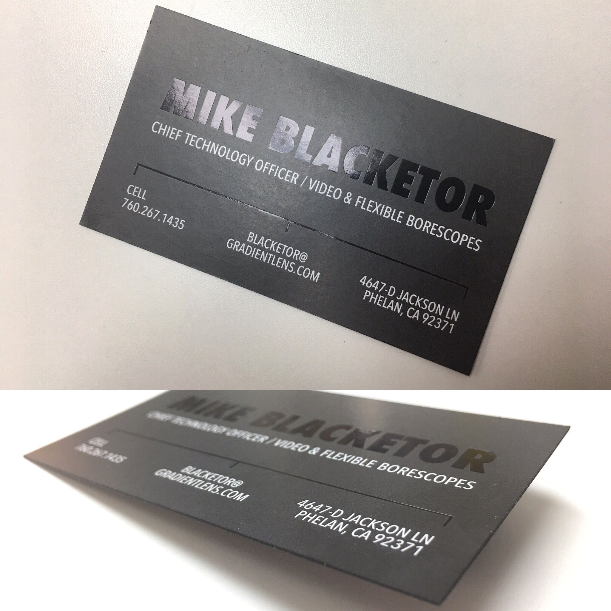 one of my designs black foil on black matte with black edges