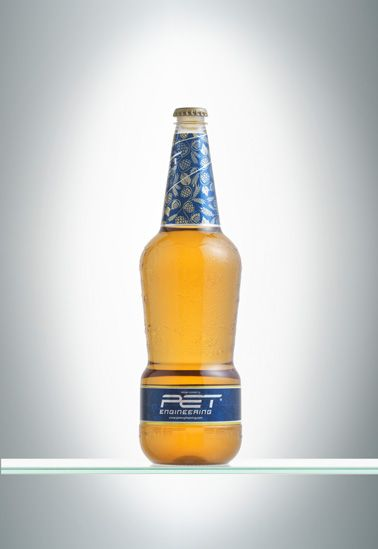 GLASS BEER 0 75l  Creating a beer bottle in PET able to show the