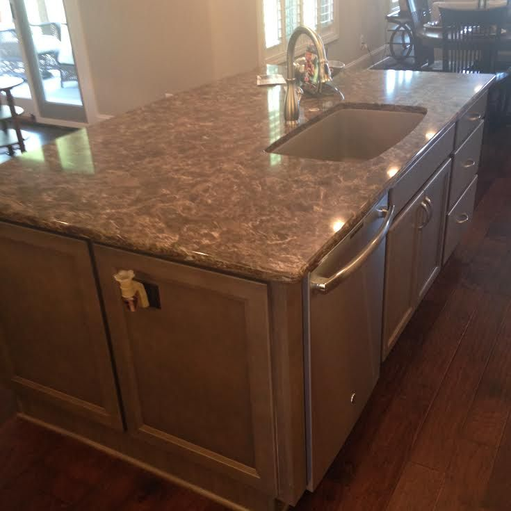 Kitchen cabinet, Island - HomeCrest Cabinetry, Lautner Maple French ...