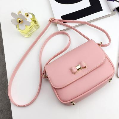97483bcf38 LEFTSIDE Women Bag Bow Handbag PU Leather Women s Shoulder Crossbody Bags  Ladies Small Handbags Purse Bags Bolso Pink Black
