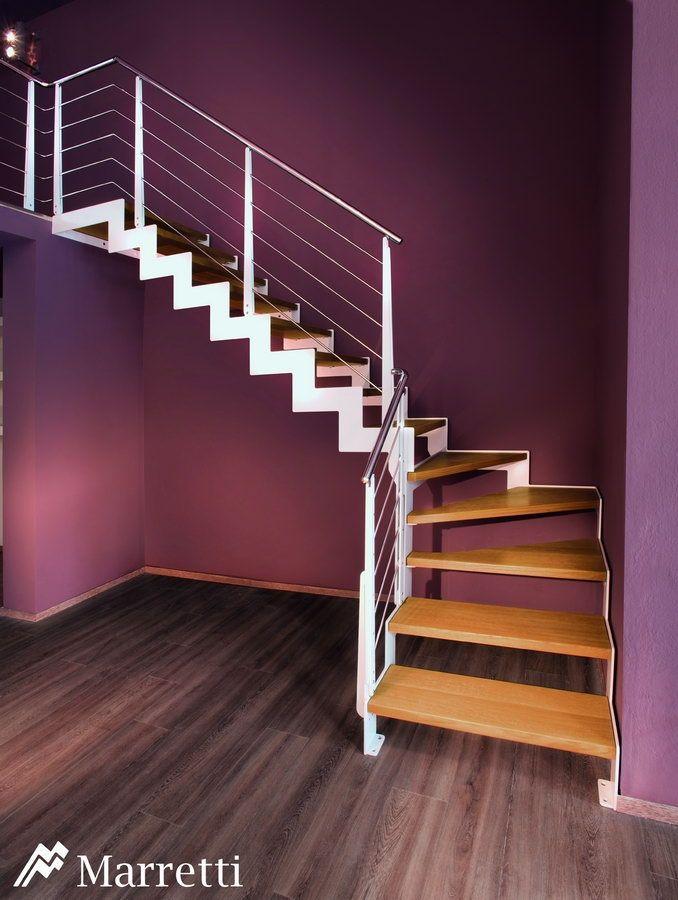 Escaleras de interior Flo, la nueva colección asequible de Marretti. FLO_150, escalera de madera y acero