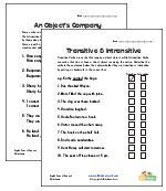 Transitive and Intransitive Verb Worksheets | verbs | Pinterest ...