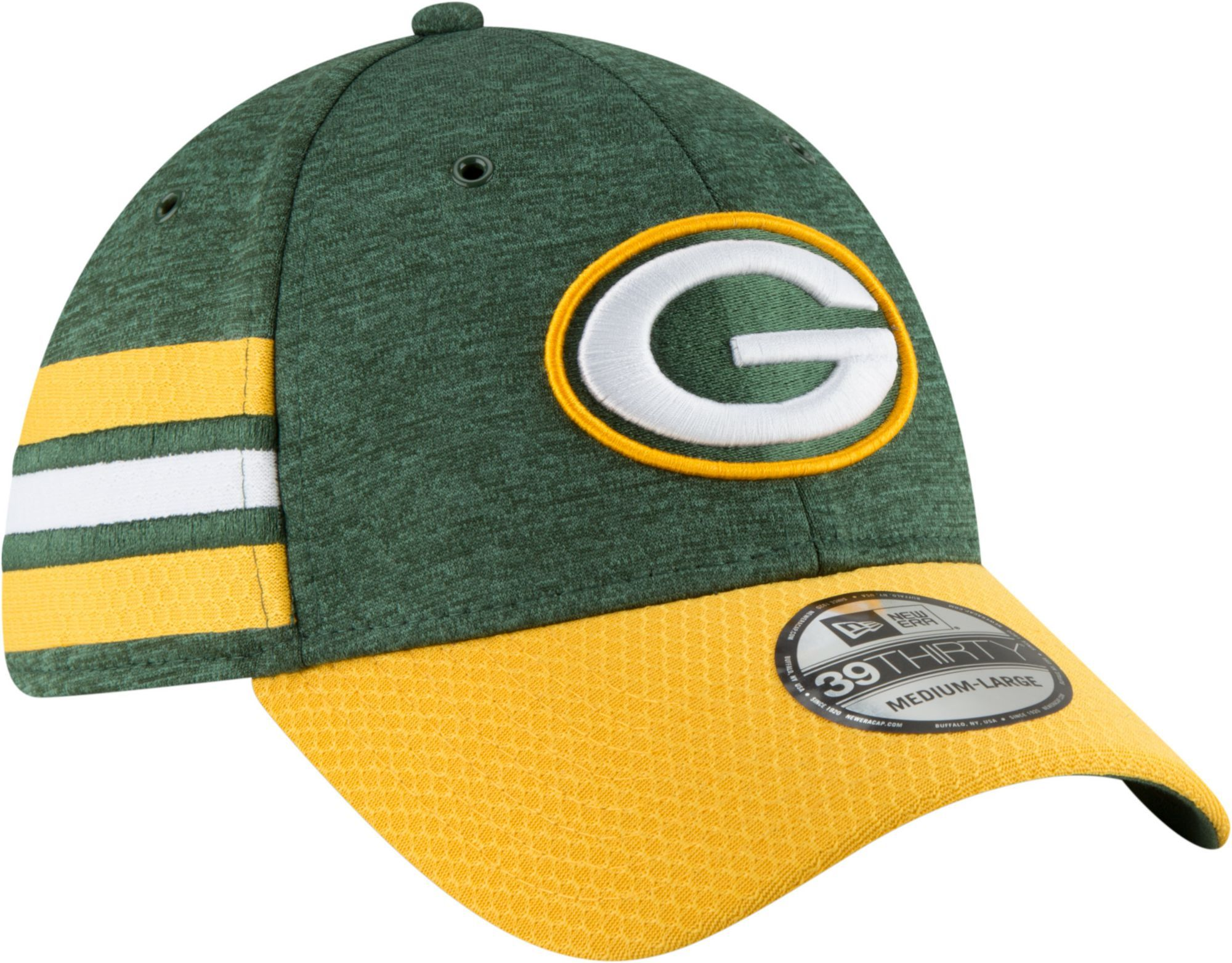 premium selection cb2f5 2d291 New Era Men s Green Bay Sideline Home 39Thirty Green Stretch Fit Hat