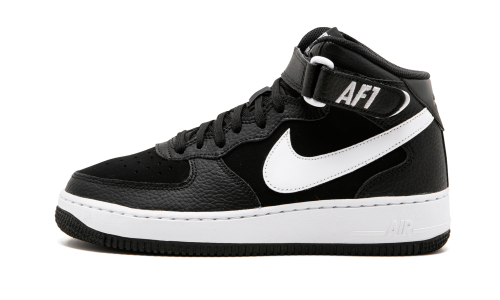 buy online d6a9a 99243 Nike Air Force 1 Mid GS - 314195 038, Black White
