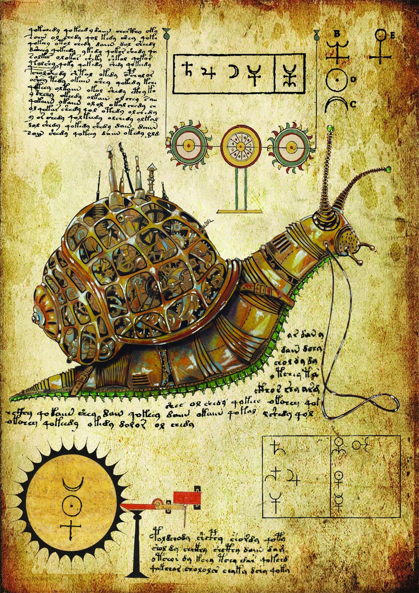 Pages of the secret book Snail  Alchemy  Pinterest  Secret