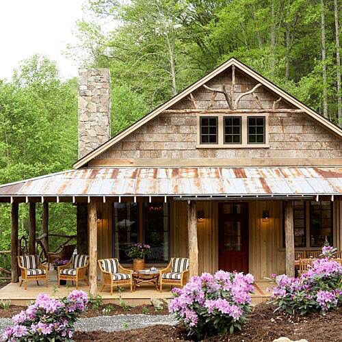 Cabin In The Woods With A Wonderful Wrap Around Porch Porch House Plans Southern Living House Plans Pretty House