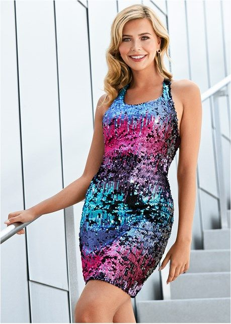 2ccc5a84 Sequin detail dress | Style | Glitz & Glam | Dresses, Sequins ...
