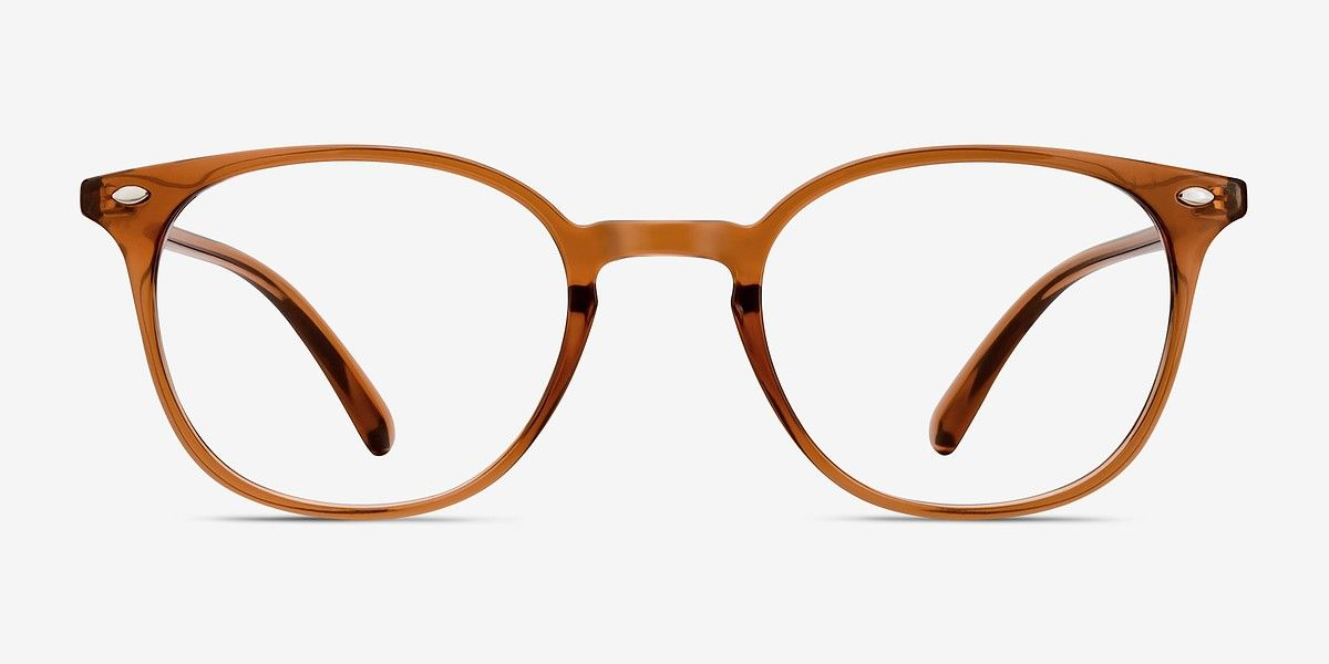 3d1a96a9d5 Hubris Clear Copper Plastic Eyeglasses from EyeBuyDirect. Discover  exceptional style