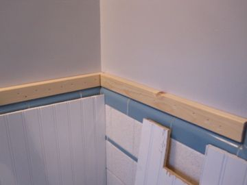 white beadboard applied directly