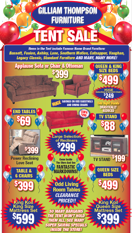 Tent Sale 2016 Tent Sale Southern Motion Standard Furniture