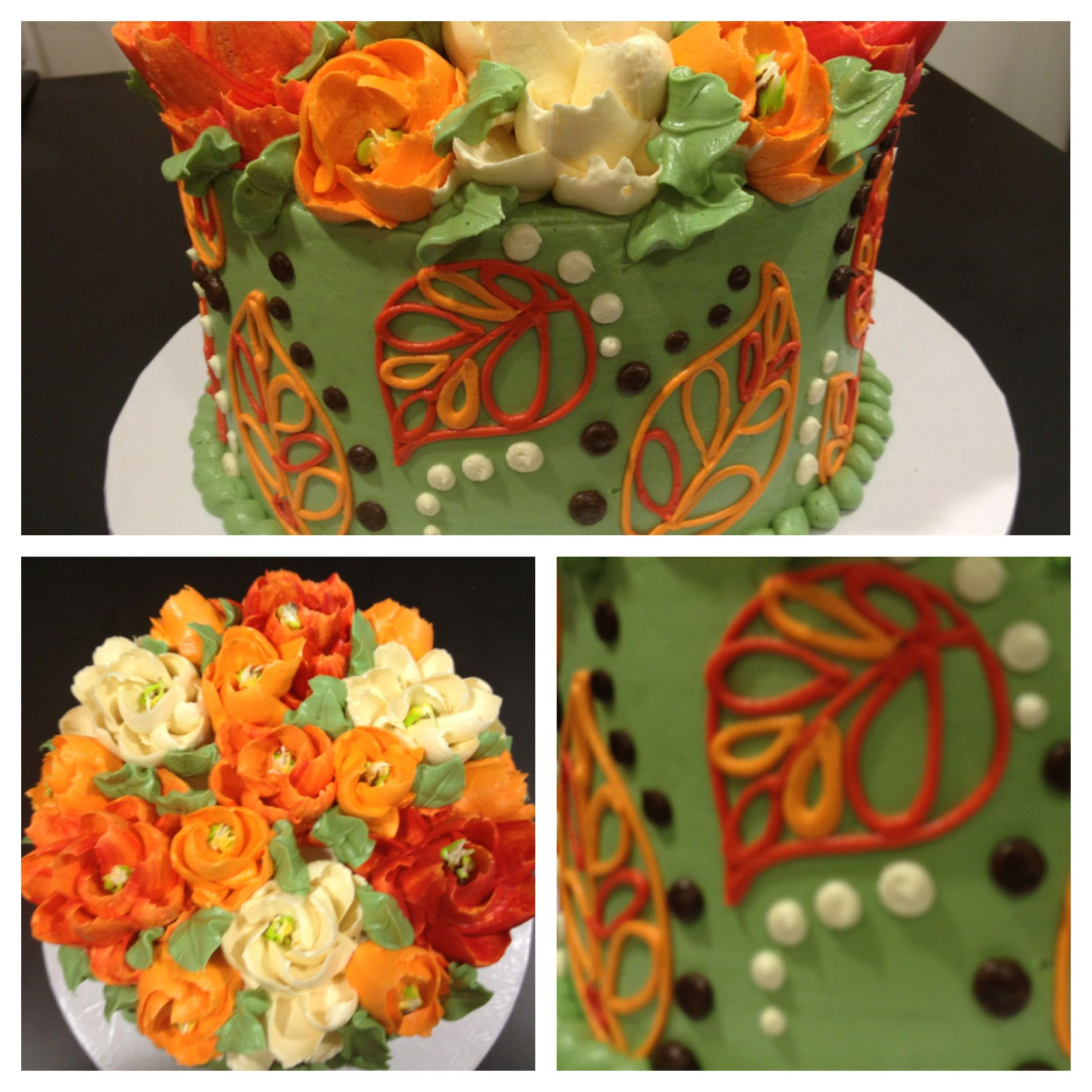 Fall leaves buttercream cake the leaves are fun dont know if i fall leaves buttercream cake from white flower cake shoppe dhlflorist Image collections