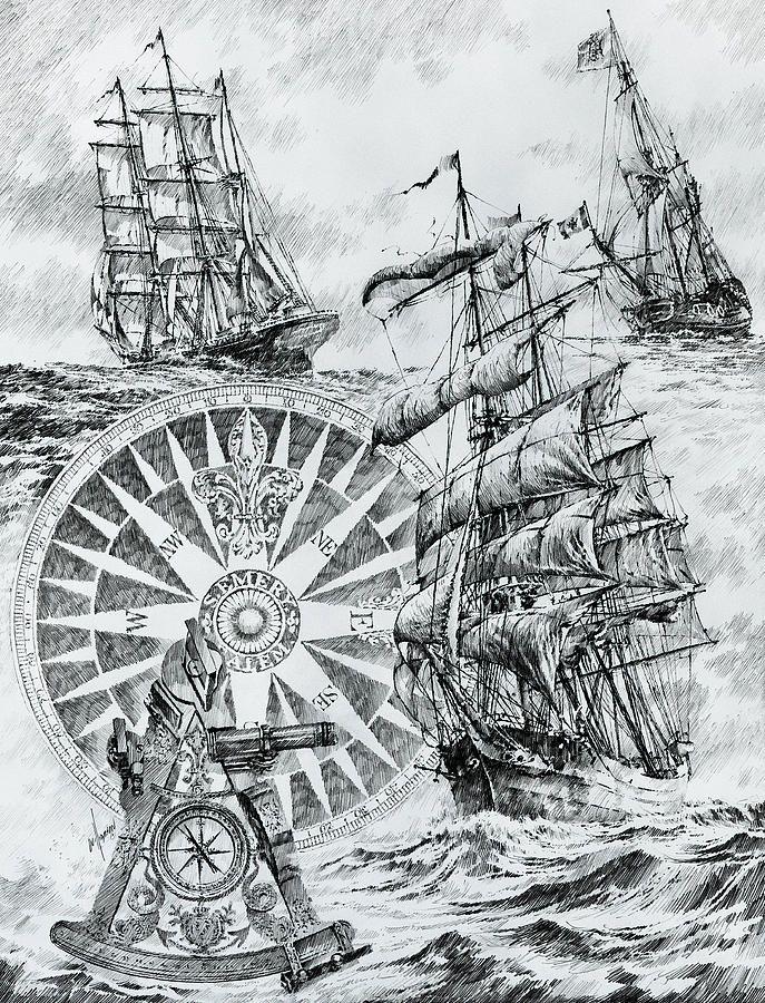 элементы картинки старинных карт кораблей каждого нас