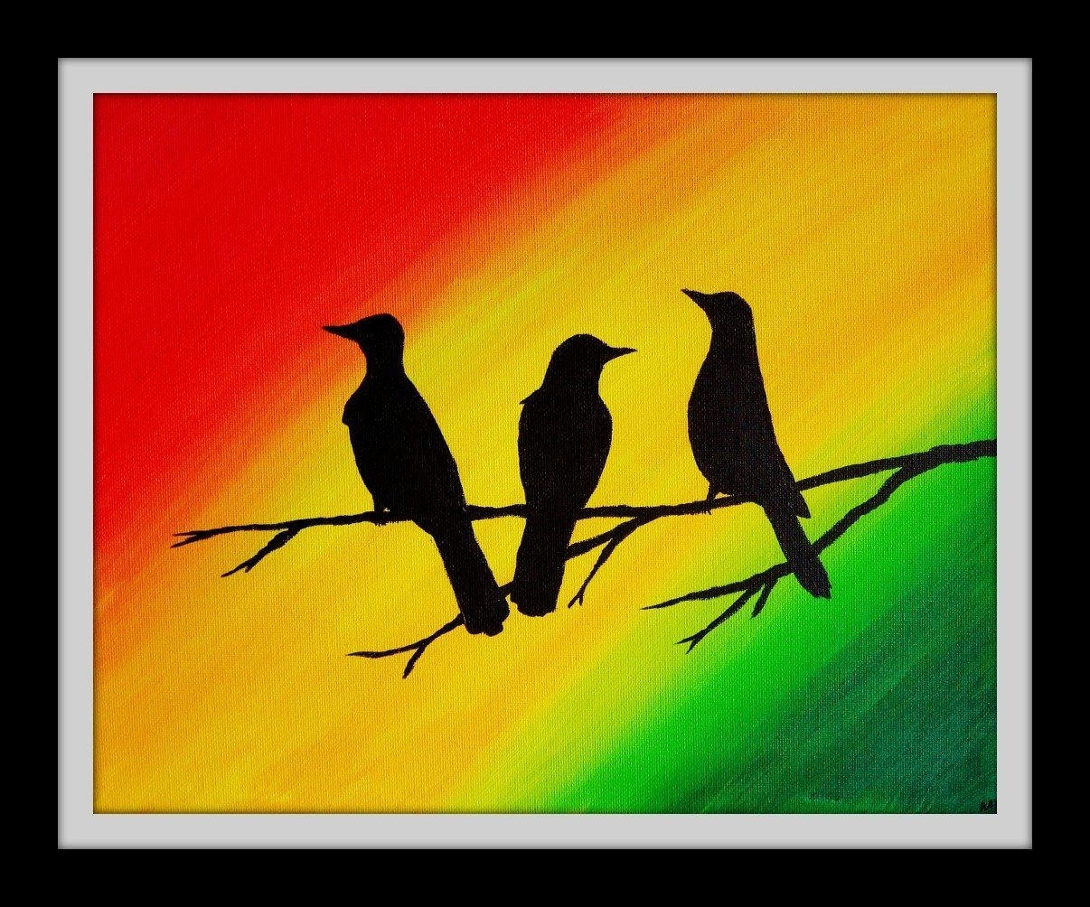 Three Little Birds Wall Art Rasta Decor | crafts for mommy ...